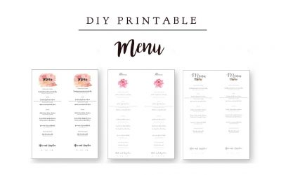 DIY Printable Menu